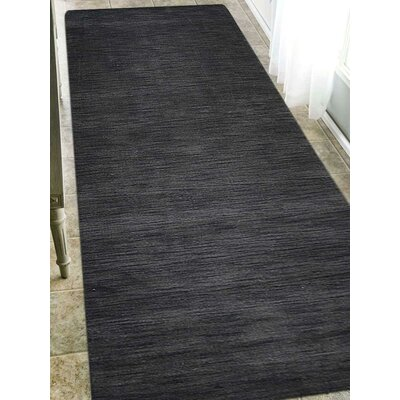 Delano Solid Hand-Woven Wool Gray Area Rug Rug Size: Runner 28 x 8
