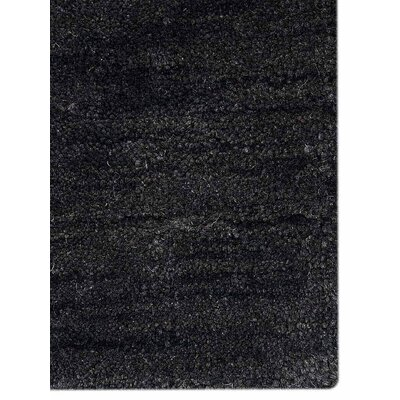 Delano Solid Hand-Woven Wool Gray Area Rug Rug Size: Rectangle 5 x 8