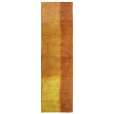 Piazza Hand-Tufted Sunrise/Orange Area Rug Rug Size: Runner 23 x 8