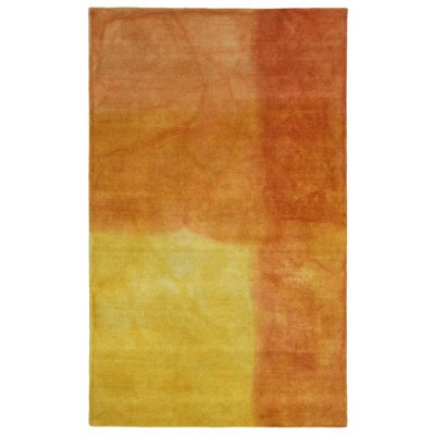 Piazza Hand-Tufted Sunrise/Orange Area Rug Rug Size: 5 x 8