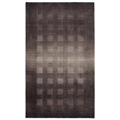 Lundin Hand-Loomed Gray Area Rug Rug Size: 5 x 8