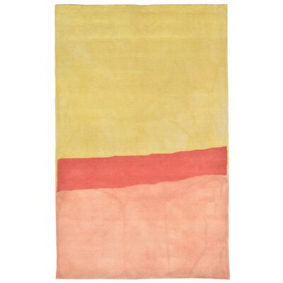 Mullican Hand-Tufted Orange Area Rug Rug Size: 5 x 8