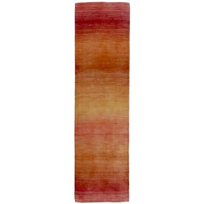 Vienna Hand-Loomed Orange Area Rug Rug Size: Runner 23 x 8