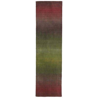 Hansford Hand-Loomed Burgundy Area Rug Rug Size: Runner 23 x 8