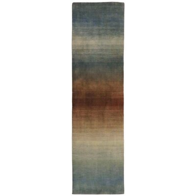 Hansford Hand-Loomed Blue Area Rug Rug Size: Runner 23 x 8