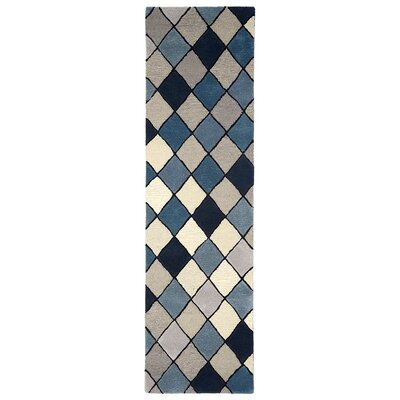 Shelburne Hand-Tufted Blue Area Rug Rug Size: Runner 23 x 8