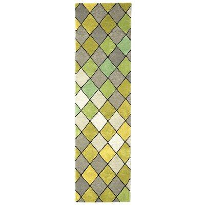 Shelburne Hand-Tufted Sage Area Rug Rug Size: Runner 23 x 8
