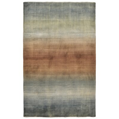 Hansford Hand-Loomed Blue Area Rug Rug Size: Rectangle 5 x 8