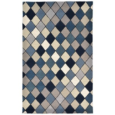 Shelburne Hand-Tufted Blue Area Rug Rug Size: 5 x 8