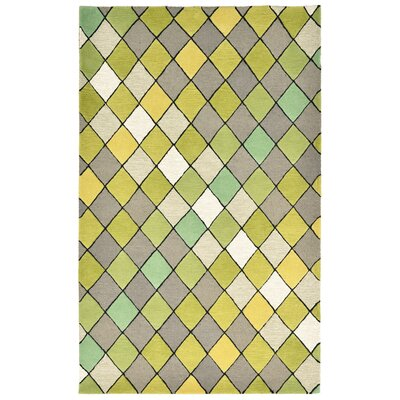Shelburne Hand-Tufted Sage Area Rug Rug Size: Rectangle 5 x 8