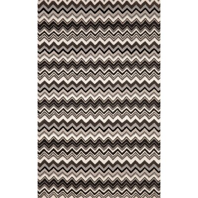 Shelburne Black/White Zigzag Stripe Area Rug Rug Size: 5 x 8