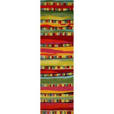 Shelburne Mosaic Stripe Fiesta Rug Rug Size: Runner 22 x 71