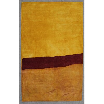Piazza Hand-Tufted  Yellow Area Rug Rug Size: 5 x 8