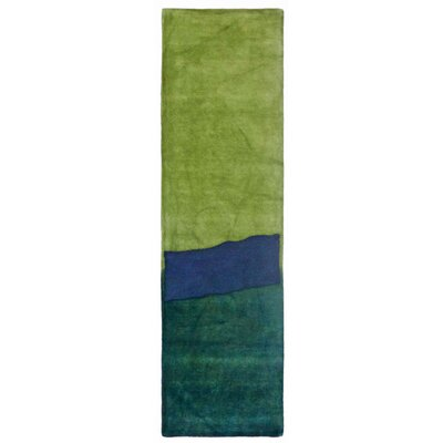 Piazza Hand-Tufted Green Area Rug Rug Size: Runner 23 x 8