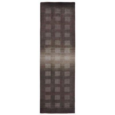 Lundin Hand-Loomed Gray Area Rug Rug Size: Runner 23 x 8