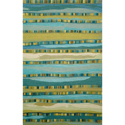 Shelburne Mosaic Blue Stripe Area Rug Rug Size: 5 x 8