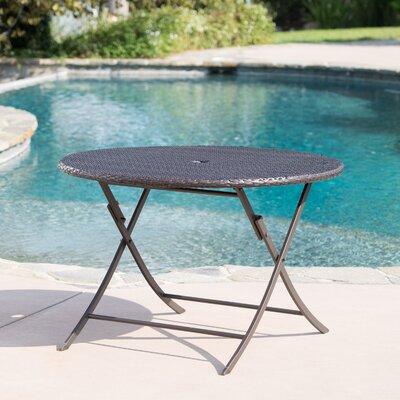Hutt Outdoor Wicker Folding Dining Table