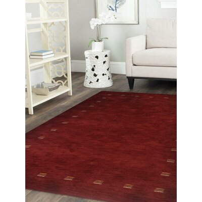 Rugsotic Hand Knotted Wool Red Indoor Area Rug Rug Size: 8 x 10