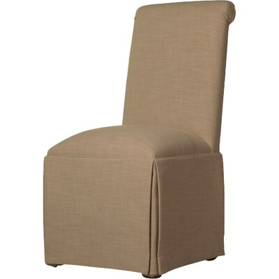 Weare Solid Back Skirted Upholstered Dining Chair Upholstery: Tan