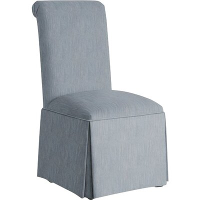 Weare Solid Back Skirted Upholstered Dining Chair Upholstery: Denim