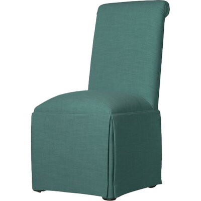 Weare Solid Back Skirted Upholstered Dining Chair Upholstery: Turquoise