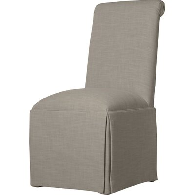 Weare Solid Back Skirted Upholstered Dining Chair Upholstery: Pewter