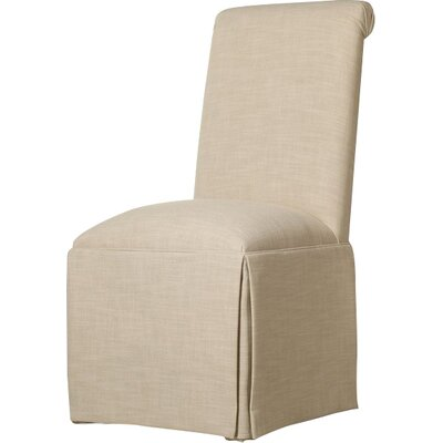 Weare Solid Back Skirted Upholstered Dining Chair Upholstery: Cream
