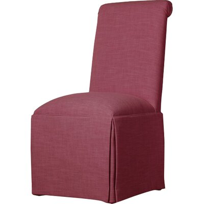 Weare Solid Back Skirted Upholstered Dining Chair Upholstery: Fuchsia