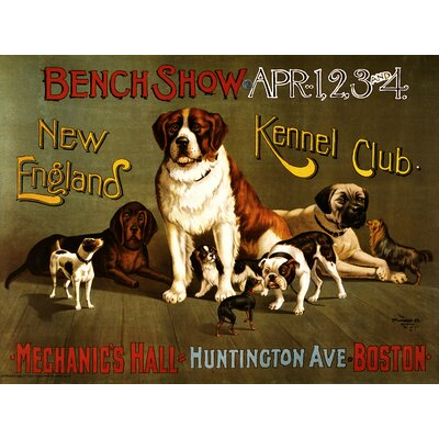 'New England Kennel Club Bench Show Circa 1890' Vintage Advertisement on Canvas