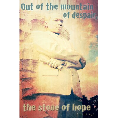 'The Stone of Hope (Dr. Martin Luther King, Jr.)' Graphic Art Print on Canvas