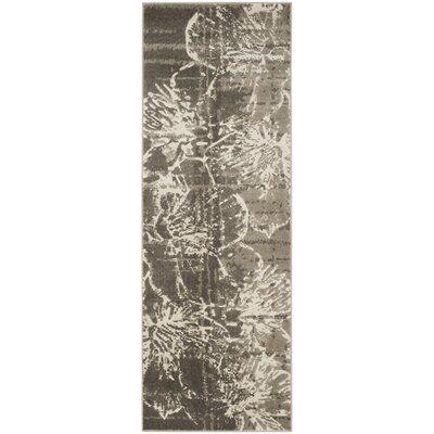 Glennville Gray/Dark Gray Area Rug Rug Size: Runner 24 x 67