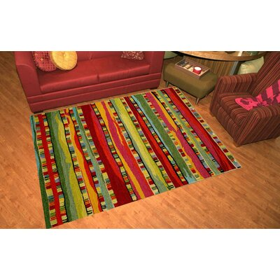 Shelburne Mosaic Stripe Fiesta Rug Rug Size: 35 x 55
