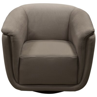 Halcott Swivel Barrel Chair Upholstery: Gray