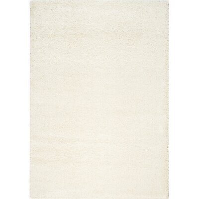 Stanley Glitz Low Pile Off-White Area Rug Rug Size: 53 x 77