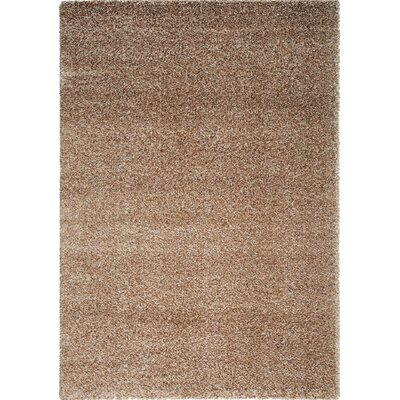 Stanley Glitz Low Pile Sand Area Rug Rug Size: 53 x 77