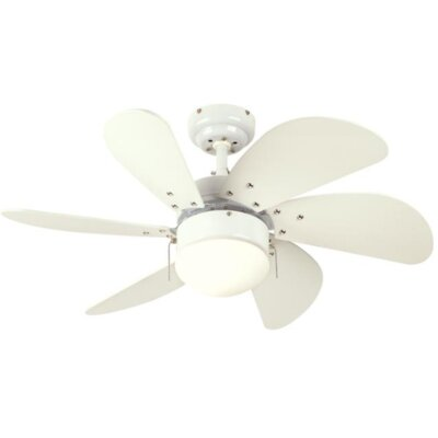 30 Jules 6 Blade Ceiling Fan Finish: White with White Blades