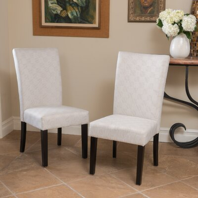 Kinkead Upholstered Dining Chair Color: Off-White