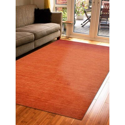 Delano Contemporary Hand Knotted Wool Red Area Rug Rug Size: 8 x 10