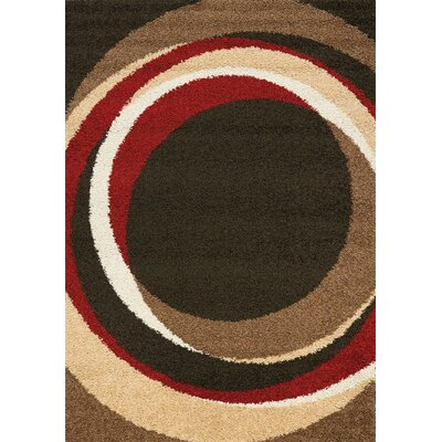 Rundey Taupe Autumn Circles Area Rug Rug Size: 53 x 77