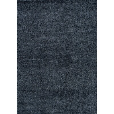Barry Steel Blue Luxurious Area Rug Rug Size: 53 x 77