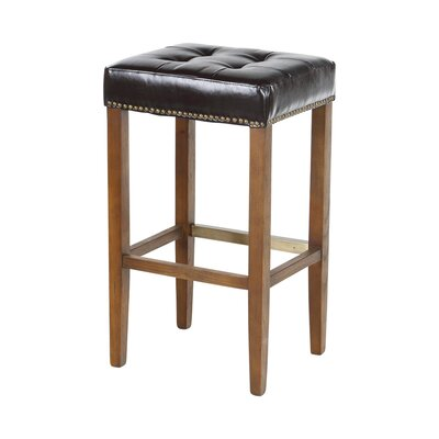 Bukovice Modern 30 Bar Stool Upholstery: Classic Brown