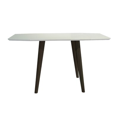 Schillinger Dining Table Base Color / Top Color: Black Oak / Matte White