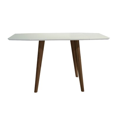 Schillinger Dining Table Base Color / Top Color: Teak Wood / Matte White