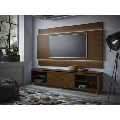Franklin 77-95 TV Stand Color: Nut Brown, Width of TV Stand: 74.44 H x 85.43 W x 17.63 D