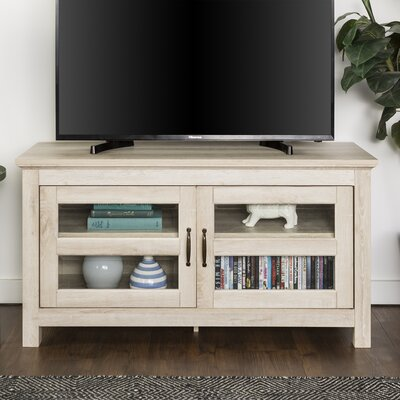 Dunmore 44 Wood TV Stand Color: White Oak