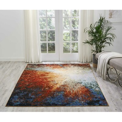 Ostby Red Flare Area Rug Rug Size: Rectangle 56 x 8
