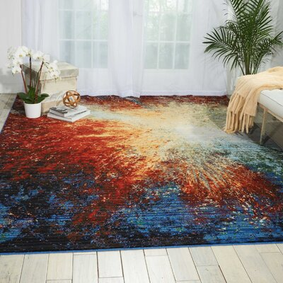 Aikin Red Flare Area Rug Rug Size: Rectangle 79 x 99