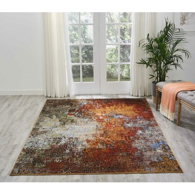 Aikin Ember Glow Area Rug Rug Size: Rectangle 56 x 8