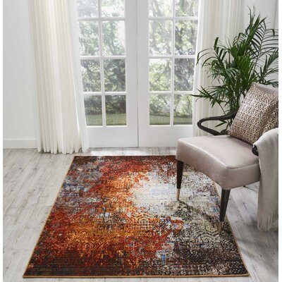 Ostby Ember Glow Area Rug Rug Size: Rectangle 4 x 6