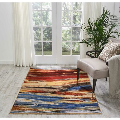 Ostby Lava Flow Area Rug Rug Size: Rectangle 4 x 6